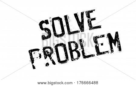 Solve Problem rubber stamp. Grunge design with dust scratches. Effects can be easily removed for a clean, crisp look. Color is easily changed.
