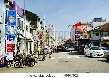 PINANG, 14 JANUARY 2017 - Architecture of Georgetown, Pinang Island, Malaysia, Asia