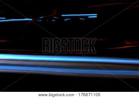 car lights in motion abstract background at night