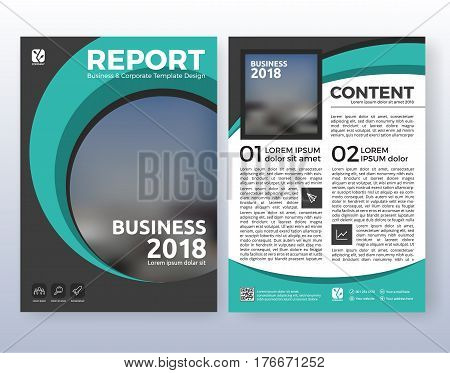 Multipurpose corporate business flyer layout design. Suitable for flyer brochure book cover and annual report. Turquoise color scheme in A4 size layout template background with bleeds.