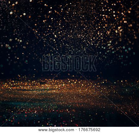 Glitter Lights Grunge Background, Glitter Defocused Abstract Twinkly Lights And Glitter Stars Christ