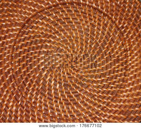 Wicker Swirl of a Handcrafted Woven Basket