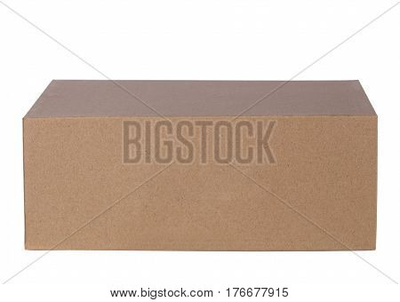 Empty cardboard box isolated on the white background.