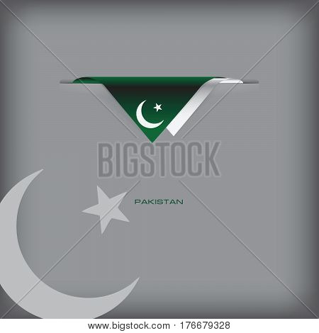 The combination of colors of the national flag Pakistan.