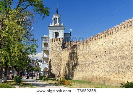 Batonis-tsikhe Fortress In Telavi. Georgia