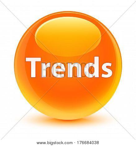Trends Glassy Orange Round Button