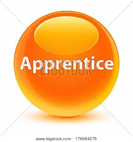 Apprentice Glassy Orange Round Button