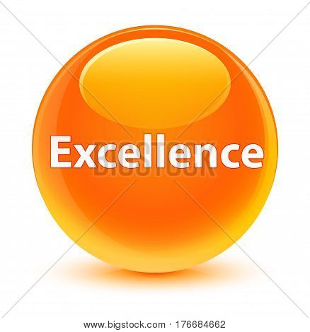 Excellence Glassy Orange Round Button