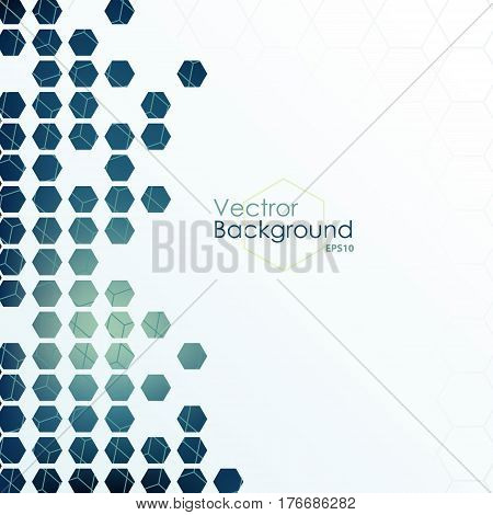 Hexagon designed background. Abstract geometric scalable template illustration for presentation web infographics or brochure.