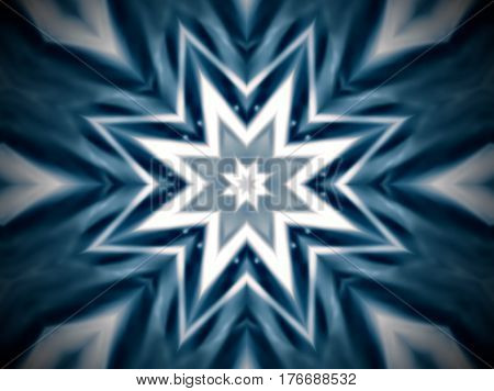 Abstract Extruded Mandala 8 Sided Star