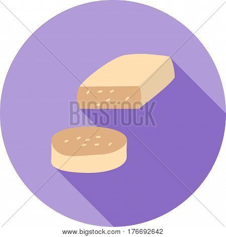 Cheese, hand, food icon vector image. Can also be used for european cuisine. Suitable for mobile apps, web apps and print media.