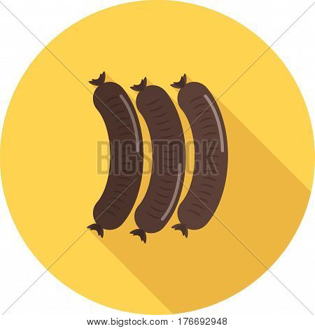 European, cuisine, sausage icon vector image. Can also be used for european cuisine. Suitable for mobile apps, web apps and print media.