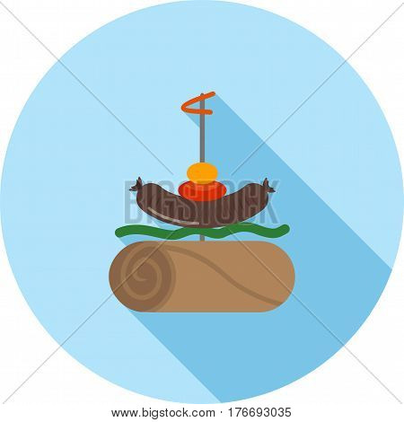 Tapas, food, bread icon vector image. Can also be used for european cuisine. Suitable for mobile apps, web apps and print media.