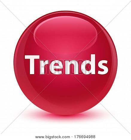 Trends Glassy Pink Round Button