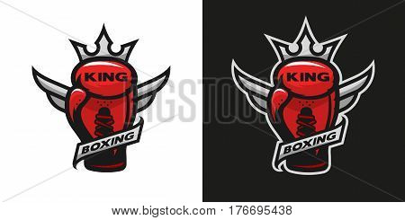 Boxing King. Boxing glove logo Two version.