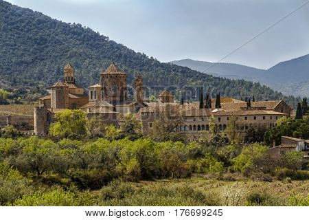 Monastery of Santa Maria de Poblet Catalonia Spain overview