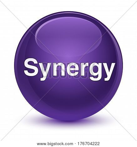 Synergy Glassy Purple Round Button