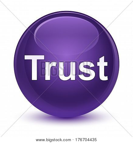 Trust Glassy Purple Round Button