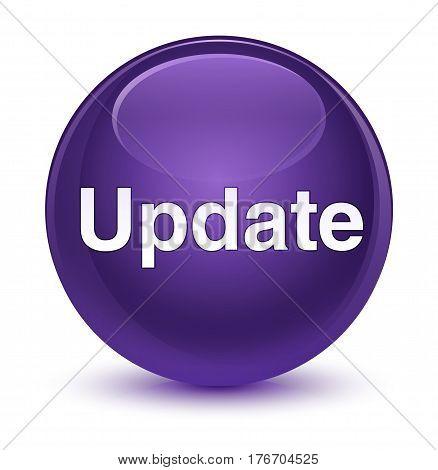 Update Glassy Purple Round Button
