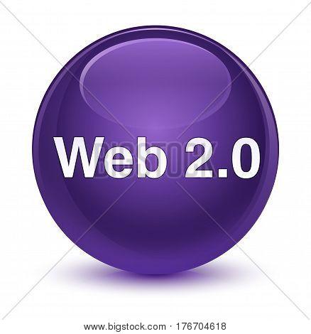 Web 2.0 Glassy Purple Round Button