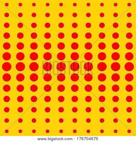 Halftone red and yellow pattern. Modern geometric texture. Repeating abstract design.Vector illustration stock vector.