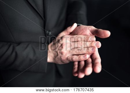 Businessman Clapping Hands