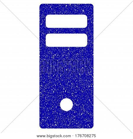 Grunge Server Mainframe rubber seal stamp watermark. Icon symbol with grunge design and unclean texture. Unclean vector blue emblem.