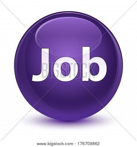 Job Glassy Purple Round Button