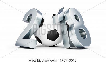 Russian football 2018 on a white background 3D illustration