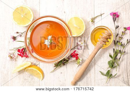 honey with flower