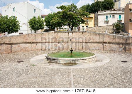 Fountain Cavallina. Genzano Di Lucania.italy.