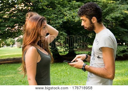 Young Couple In A Park