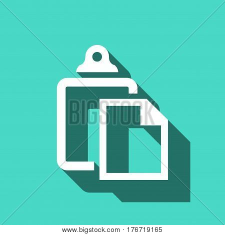 paste icon stock vector illustration flat design