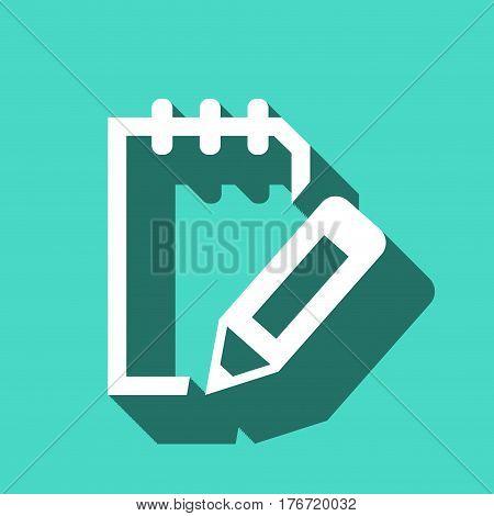 notepad icon stock vector illustration flat design