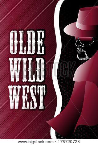 Olde Wild West Gunslinger Vintage Mood Poster