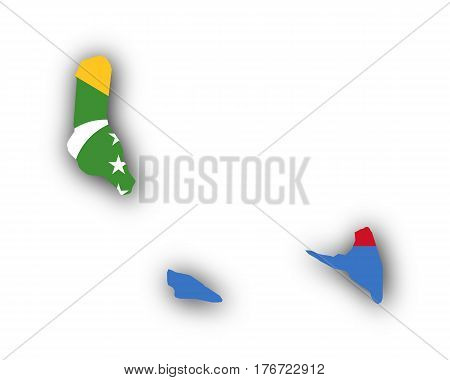 Map And Flag Of The Comoros