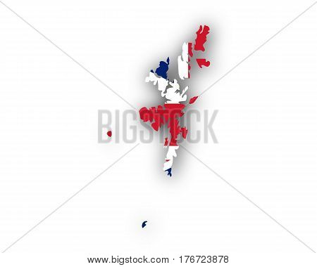 Map And Flag Of Shetland Islands