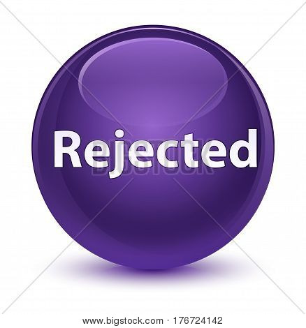 Rejected Glassy Purple Round Button