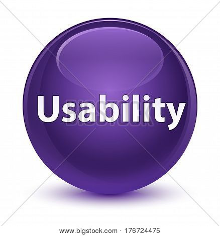 Usability Glassy Purple Round Button