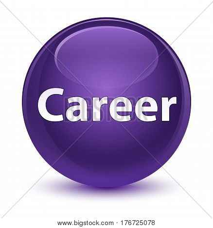 Career Glassy Purple Round Button