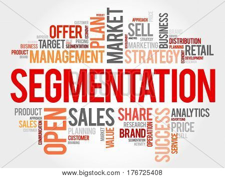 Segmentation Word Cloud Collage