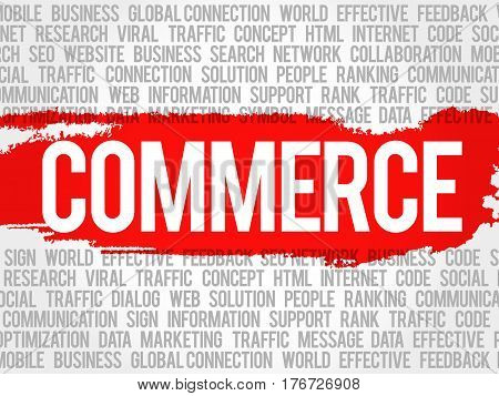 Commerce Word Cloud Collage