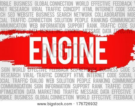 Engine Word Cloud Collage