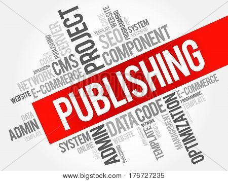 Publishing word cloud collage, business concept background