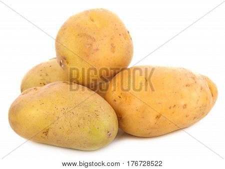 Potatoes isolated on white vegetarian, meal, ripe, nobody, natural, vegan, starch,