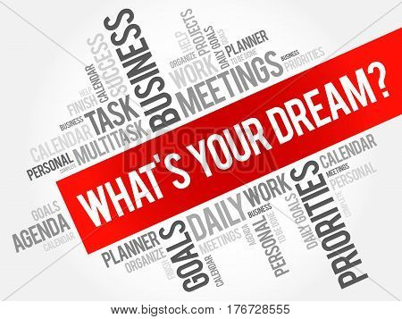 What's Your Dream? Word Cloud