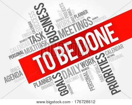 To Be Done Word Cloud