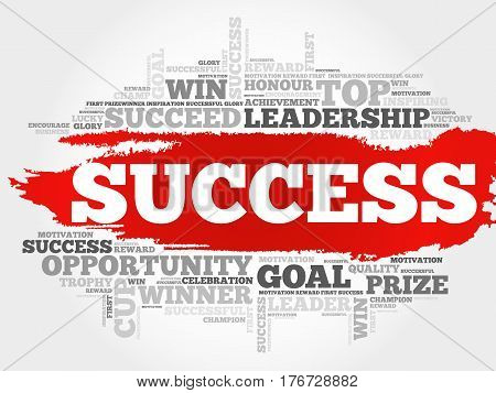 Success word cloud collage , concept background