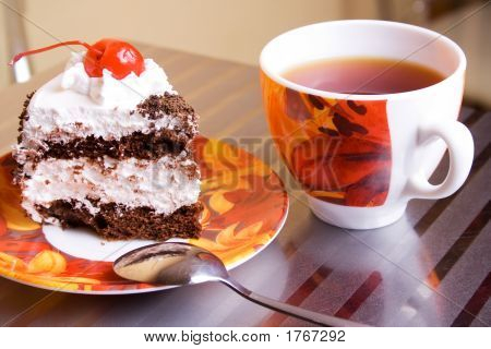 Tea Cup And Cake