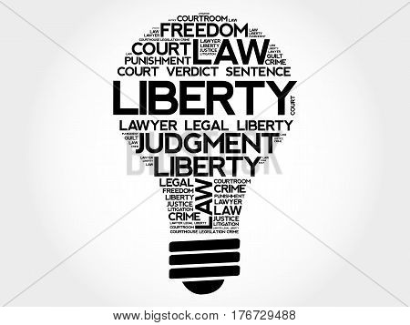 Liberty Bulb Word Cloud Collage